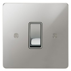 Focus SB Ambassador APC11.1/3W 1 gang 20 amp Intermediate rocker switch in Polished Chrome with White Inserts