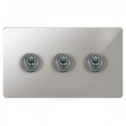 Focus SB Ambassador APC14.3 3 gang 20 amp 2 way toggle switch in Polished Chrome