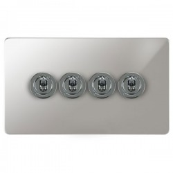Focus SB Ambassador APC14.4 4 gang 20 amp 2 way toggle switch in Polished Chrome