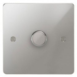 Focus SB Ambassador APC22.1 1 gang 2 way 400W (mains and low voltage) dimmer in Polished Chrome