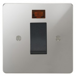 Focus SB Ambassador APC33.1B/SML 45 amp cooker control switch with neon in Polished Chrome