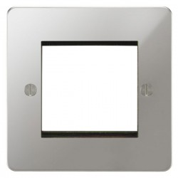 Focus SB Ambassador APCEUR.2 single aperture plate for two single euro modules in Polished Chrome