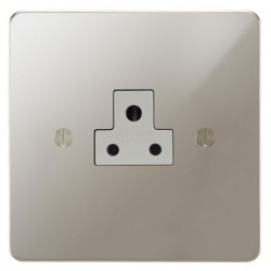 Focus SB Ambassador APN19.1W 1 gang 2 amp unswitched socket in Polished Nickel with white inserts