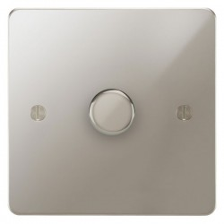 Focus SB Ambassador APN21.1 1 gang 2 way 250W (mains and low voltage) dimmer in Polished Nickel