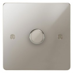 Focus SB Ambassador APN22.1 1 gang 2 way 400W (mains and low voltage) dimmer in Polished Nickel
