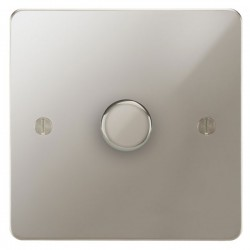 Focus SB Ambassador APN43.1/SML 1 gang 700W low voltage, 1000W mains voltage dimmer in Polished Nickel