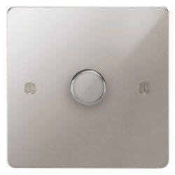 Focus SB Ambassador APS21.1 1 gang 2 way 250W (mains and low voltage) dimmer in Polished Stainless