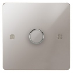 Focus SB Ambassador APS22.1 1 gang 2 way 400W (mains and low voltage) dimmer in Polished Stainless