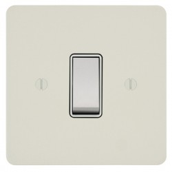 Focus SB Ambassador APW10.1W 1 gang 20 amp 2 way rocker switch in Primed White with white inserts