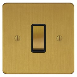 Focus SB Ambassador ASB11.1/3B 1 gang 20 amp Intermediate rocker switch in Satin Brass