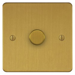 Focus SB Ambassador ASB21.1 1 gang 2 way 250W (mains and low voltage) dimmer in Satin Brass