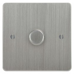 Focus SB Ambassador ASC21.1 1 gang 2 way 250W (mains and low voltage) dimmer in Satin Chrome