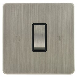Focus SB Ambassador ASN11.1/3B 1 gang 20 amp Intermediate rocker switch in Satin Nickel