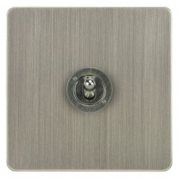 Focus SB Ambassador ASN14.1 1 gang 20 amp 2 way toggle switch in Satin Nickel