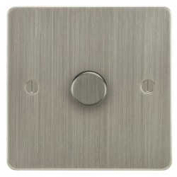 Focus SB Ambassador ASN21.1 1 gang 2 way 250W (mains and low voltage) dimmer in Satin Nickel