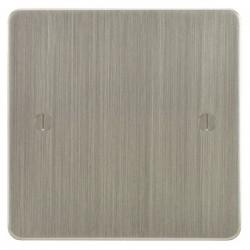 Focus SB Ambassador ASN37.1 single blank plate in Satin Nickel