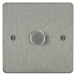 Focus SB Ambassador ASS21.1 1 gang 2 way 250W (mains and low voltage) dimmer in Satin Stainless