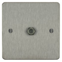 Focus SB Ambassador ASS54.1 1 gang satellite socket in Satin Stainless