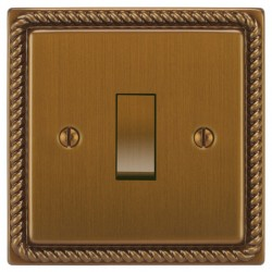 Focus SB Georgian GBA11.1/3 1 gang 20 amp Intermediate rocker switch in Bronze Antique