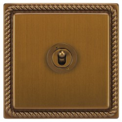 Focus SB Georgian GBA14.1/3 1 gang 20 amp Intermediate toggle switch in Bronze Antique