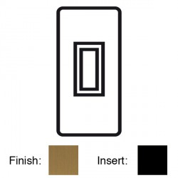 Focus SB Georgian GBA16.1B 1 gang 20 amp 2 way architrave switch in Bronze Antique with black inserts