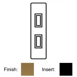 Focus SB Georgian GBA16.2B 2 gang 20 amp 2 way architrave switch in Bronze Antique with black inserts