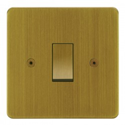 Focus SB Horizon HAB11.1 trimless 1 gang 20 amp 2 way rocker switch in Antique Brass