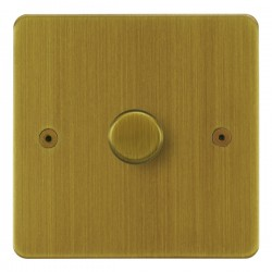 Focus SB Horizon HAB21.1 1 gang 2 way 250W (mains and low voltage) dimmer in Antique Brass