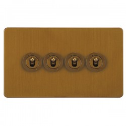 Focus SB Horizon HBA14.4 4 gang 20 amp 2 way toggle switch in Bronze Antique