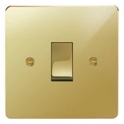 Focus SB Horizon HPB11.1 trimless 1 gang 20 amp 2 way rocker switch in Polished Brass