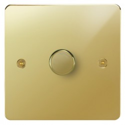 Focus SB Horizon HPB21.1 1 gang 2 way 250W (mains and low voltage) dimmer in Polished Brass