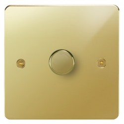 Focus SB Horizon HPB22.1 1 gang 2 way 400W (mains and low voltage) dimmer in Polished Brass