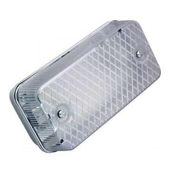 Ansell E27 Aluminium Bulkhead with Polycarbonate Diffuser