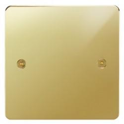 Focus SB Horizon HPB37.1 single blank plate in Polished Brass