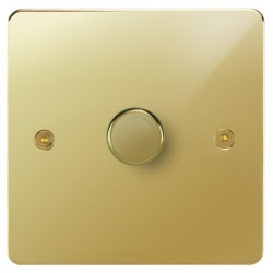 Focus SB Horizon HPB43.1/SML 1 gang 700W low voltage, 1000W mains voltage dimmer in Polished Brass