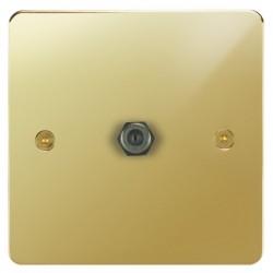 Focus SB Horizon HPB54.1 1 gang satellite socket in Polished Brass