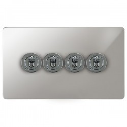 Focus SB Horizon HPC14.4 4 gang 20 amp 2 way toggle switch in Polished Chrome