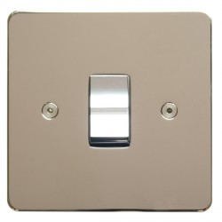 Focus SB Horizon HPN11.1 trimless 1 gang 20 amp 2 way rocker switch in Polished Nickel