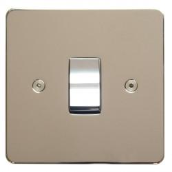 Focus SB Horizon HPN11.1 trimless 1 gang 20 amp 2 way rocker switch in Polished Nickel
