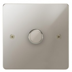 Focus SB Horizon HPN21.1 1 gang 2 way 250W (mains and low voltage) dimmer in Polished Nickel