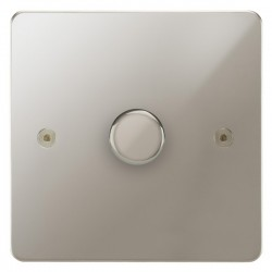 Focus SB Horizon HPN22.1 1 gang 2 way 400W (mains and low voltage) dimmer in Polished Nickel
