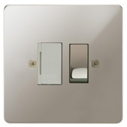 Focus SB Horizon HPN26.1W 13 amp switched fuse spur in Polished Nickel with white inserts