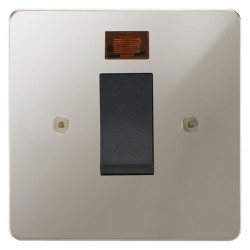 Focus SB Horizon HPN33.1B/SML 45 amp cooker control switch with neon in Polished Nickel