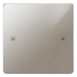 Focus SB Horizon HPN37.1 single blank plate in Polished Nickel