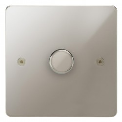 Focus SB Horizon HPN43.1/SML 1 gang 700W low voltage, 1000W mains voltage dimmer in Polished Nickel