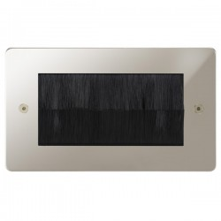 Focus SB Horizon HPNBRUSH.2 double plate with brush aperture in Polished Nickel
