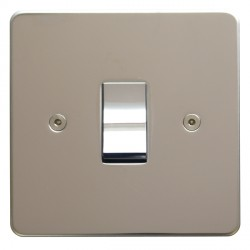 Focus SB Horizon HPS11.1 trimless 1 gang 20 amp 2 way rocker switch in Polished Stainless