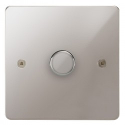 Focus SB Horizon HPS22.1 1 gang 2 way 400W (mains and low voltage) dimmer in Polished Stainless