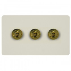 Focus SB Horizon HPW14.3 3 gang 20 amp 2 way toggle switch in Primed White