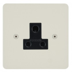 Focus SB Horizon HPW20.1B 1 gang 5 amp unswitched socket in Primed White with black inserts